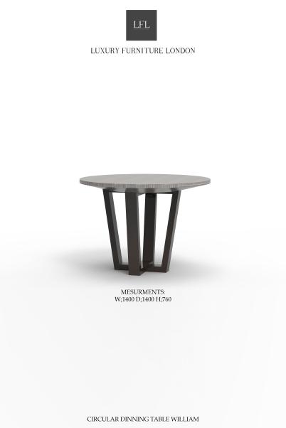 CIRCULAR DINNING TABLE WILLIAM