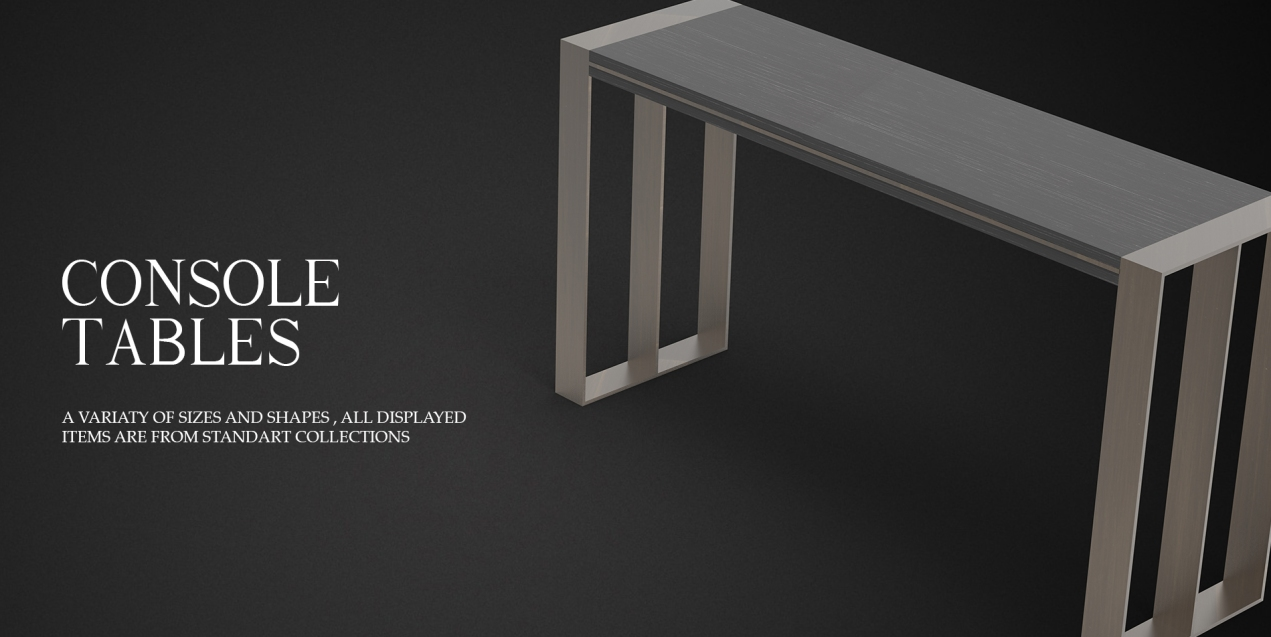 CONSOLE TABLES BANNER