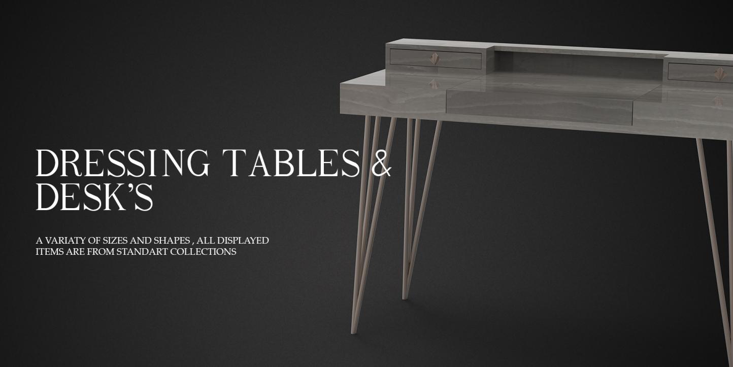DRESSING TABLES AND DESKS BANNER