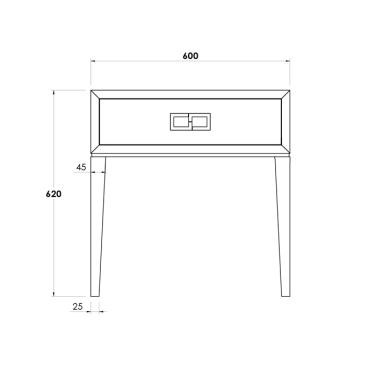 MORGAN BEDSIDE TABLE